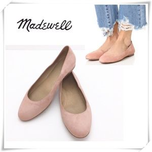 Madewell Finch Suede Ballet Flat Nude Pink